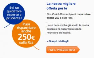 Risparmiare 250 euro sulla polizza auto con Zurich Connect
