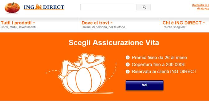 ING DIRECT propone la polizza vita in collaborazione con Genworth foto da ingdirect.it